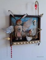 Assemblage: Saint Bunny Wings by bugatha1