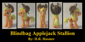 Blindbag Applejack Stallion by Gryphyn-Bloodheart