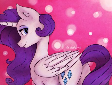 Draw This Again! Alicorn Rarity by IncendiaryBoobs