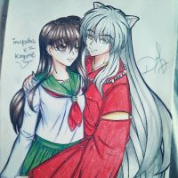 Inuyasha and kagome (2) by ilovetheanime