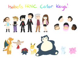 Isabel FRNC Color Key!!! by MeowMix72