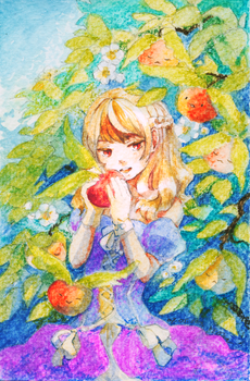 [BP] Wings Girl Apple by tshuki