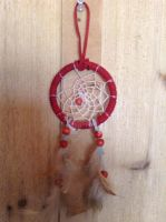 Red Dreamcatcher by ElkStarRanchArtwork