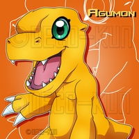 Agumon by Deko-kun