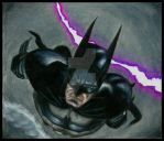 Batman Dive Prismacolour HD by ShayneMurphy