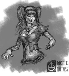 Zombie Chick Sketch by thadeemon