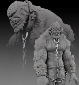 Batman Killer Croc Statue by AntWatkins