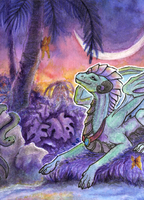 Commission: ACEO/ATC: Tropical Paminto by Samantha-dragon