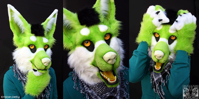 KristenDeity - Fursuit Head by FarukuCostumes
