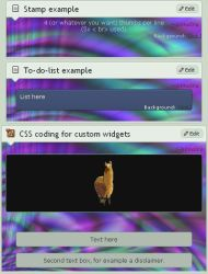 CSS coding for art and custom widgets by Shimaira