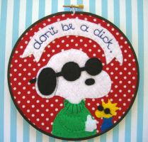 Joe Cool Embroidery Hoop by iggystarpup