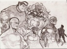 X-men quick skecth by nic011