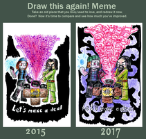 Draw this again - Let's make a deal by Rr-The-Anonymous