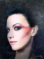cristina scabbia painting by perlaque