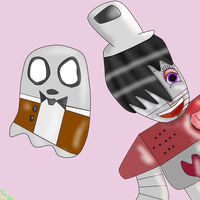 Mettaton and Blooky by SansSkeletonHUN