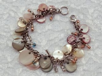 Pulseira Paetes Madreperola by rosye