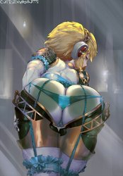 #354 aigis against glass by cutesexyrobutts