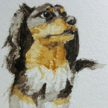 rgd watercolor dog by clutchfpv