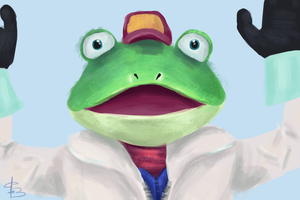 Slippy Toad - StarFox by CC3TheArtist