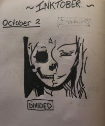 Inktober-October 2 Divided by Princ3ssWolfi3