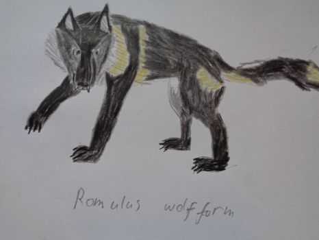 Romulus wolf form by woodywoodwood