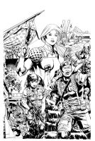 GI Joe 17 cover part 2 of 3 Inks by RobertAtkins