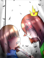 This isn't a game anymore (SlaveTale chara/frisk) by Tomboywolfthief