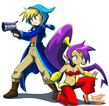 Commission: Caesar and Shantae by DANMAKUMAN