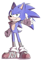 Sonic Boom: Sonic by Mitzy-Chan