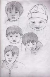 my 5 younger brothers by Girl-Jagon