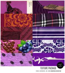 Texture Pack 01: purple [10 HI RES. scans] by mercurycode
