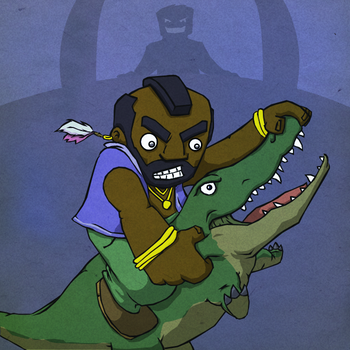 ThrongThursday-Mr.T Vs Gator by KahunaBlair