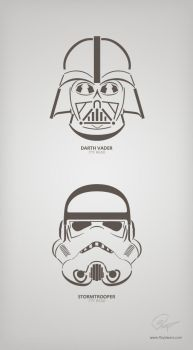 Vader and Stormtrooper typo by floydworx