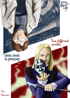 2 Worlds +L.Malfoy and Otacon+ by JorgeSantiagoJr
