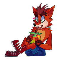 Crash Bandicoot by wildflre
