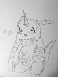 Digimon Sketch Challenge: Day #21 by Omnimon1996