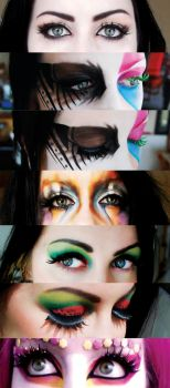 Collage of eyes by Gee-tar