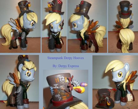 360 Degrees of Steampunk Derpy Hooves by Derpy-Express