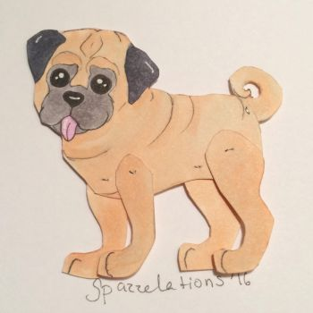 10- Pug Pupper by Spazzel