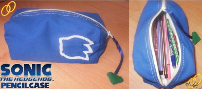 Sonic the Hedgehog pencilcase by KeyCrystal