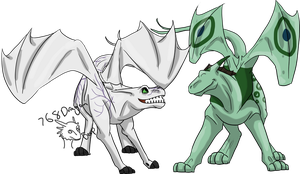 Commission-Otacusteth and Exanimalith by 768dragon