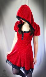 Red Riding Hood gothic lolita dress by smarmy-clothes