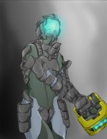 Dead Space Chick on duty... by MonkeyTheArtist