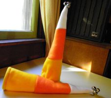 Candy Corn Horn Covers by jennovazombie