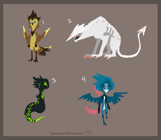Mixed Creature Adopts 61 [Point Option Added!] by Adopt-Monstar