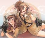 Nyotalia South and North by TechnoRanma