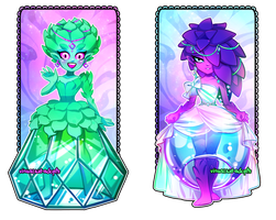 [CLOSED] Adopt Auction - Succulent Ladies by visualkid-adopts
