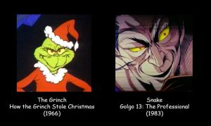 The Grinch and Snake by MDTartist83