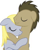 Sleep Derpy X Whooves by Ellittest