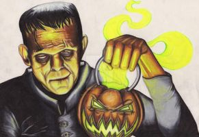 Frankenstein's Halloween by matthewstar